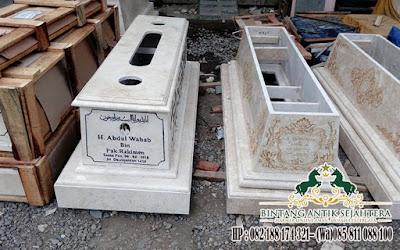 Model Makam Islam Modern, Harga Kijingan Makam, Pusara Makam Marmer Putih