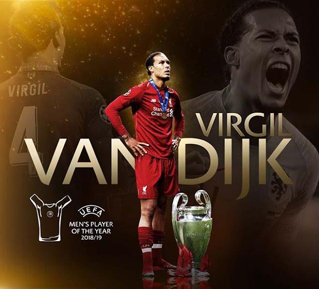 Cầu thủ xuất sắc nhất châu Âu: Van Dijk đánh bại Messi & Ronaldo, đi vào lịch sử