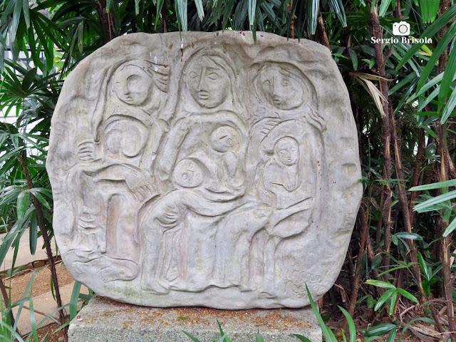 Close-up da Escultura Grupo de Mães - Museu Lasar Segall - São Paulo