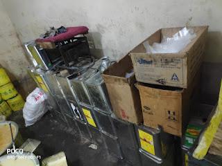 थाना रांझी अंतर्गत कृत्रिम नकली देशी घी बनाने की फैक्ट्री पकड़ी