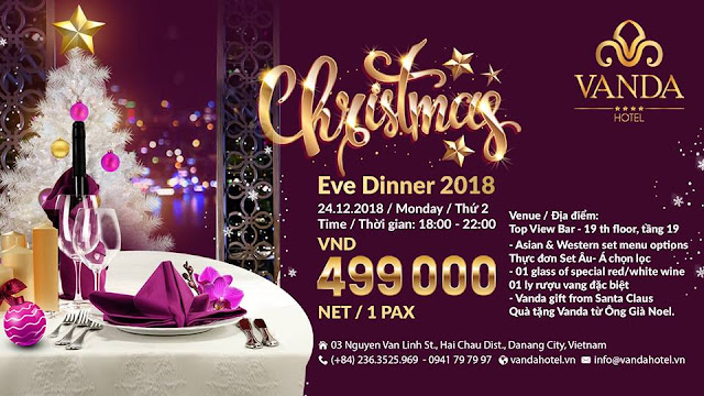 CHRISTMAS EVE DINNER 2018 - VANDA HOTEL DANANG