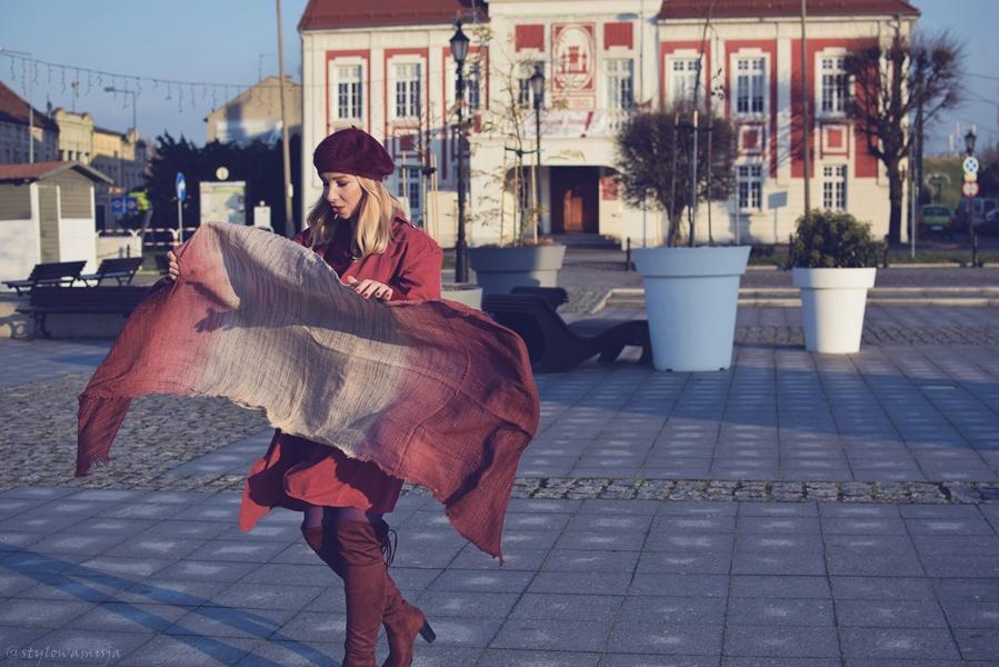beret, brilu, brilupl, czasnabuty.pl, czerwień, frenchchic, kozaki, moda, płaszcz, street, szal, szaleo, torebka, zaful, totallook, totalred,
