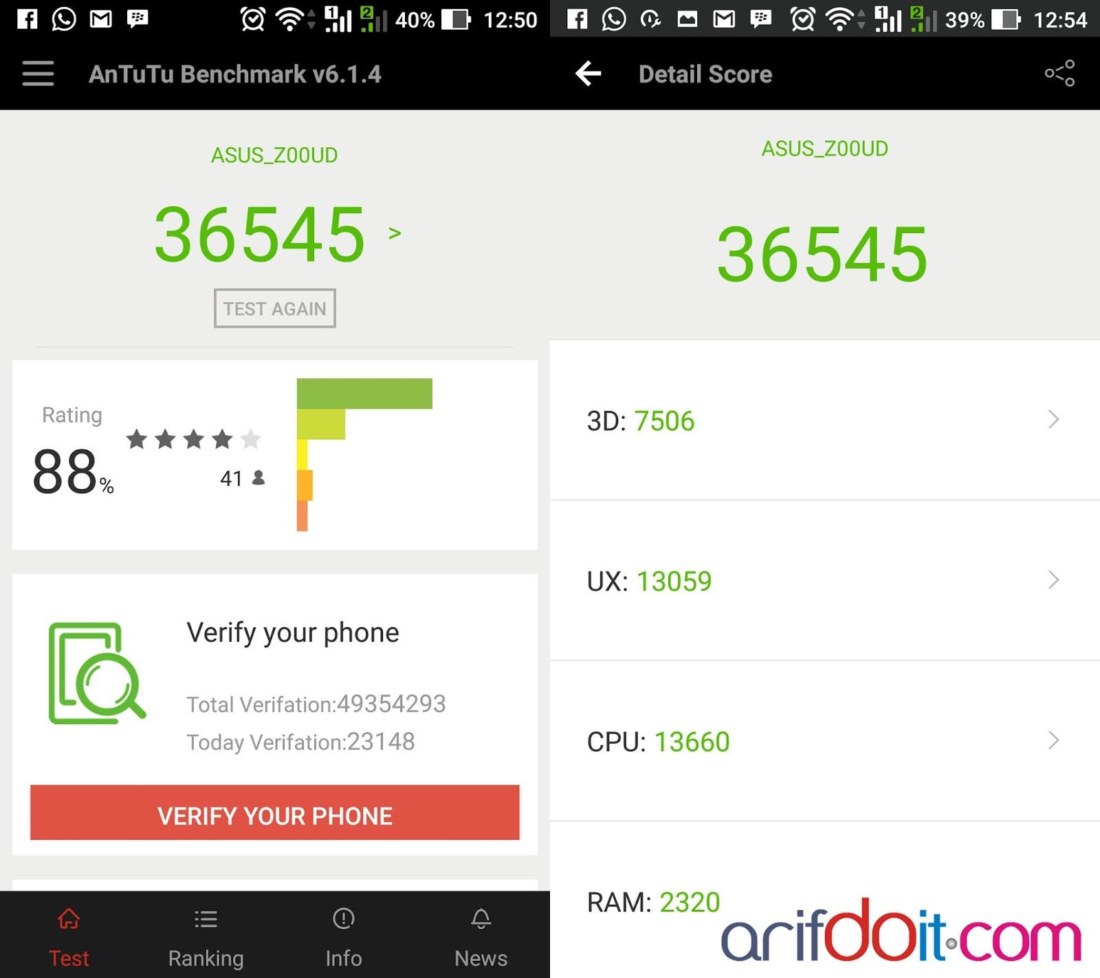score android M antutu V6.1.4