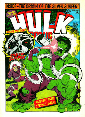 Hulk Comic #37, Machine Man and the Silver Surfer