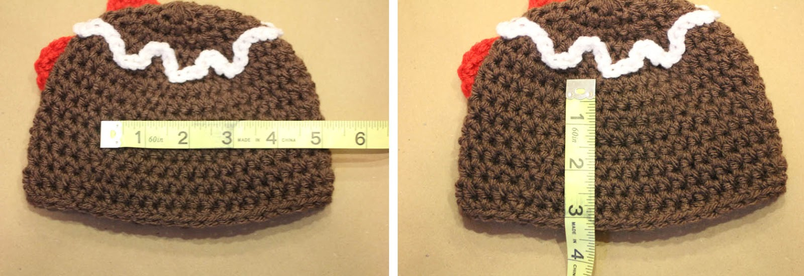 Gingerbread Man Crochet Hat Pattern - Repeat Crafter Me