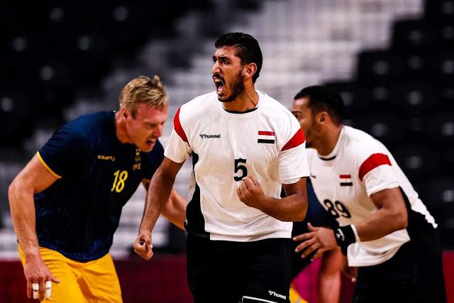 """""""يد"""" مصر تهزم السويد 27-22 وتعبر إلى ربع نهائي """"طوكيو 2020"""""""