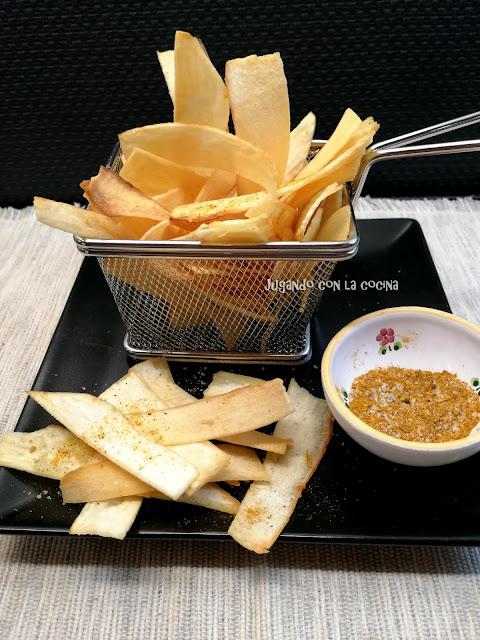 Chips De Yuca Con Sal Y Curry