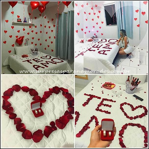 surpresa romântica de 1 ano de namoro