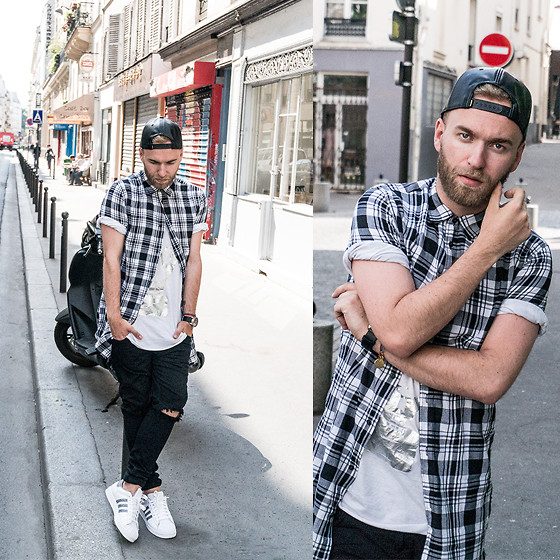 Look Masculino com Camiseta LongLine