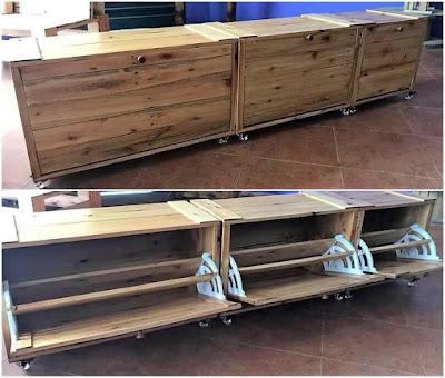 muebles DIY con pallets de madera desarmados