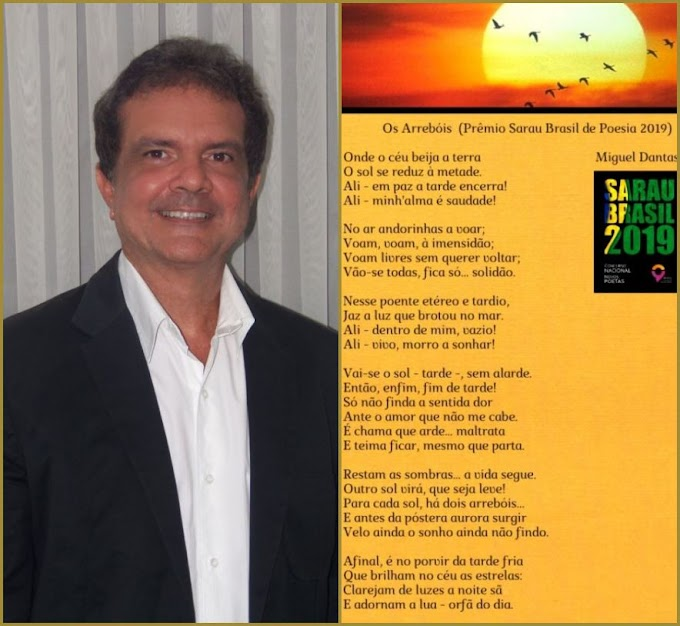 Destaque potiguar vence o Prêmio Sarau Brasil de Literatura 2019