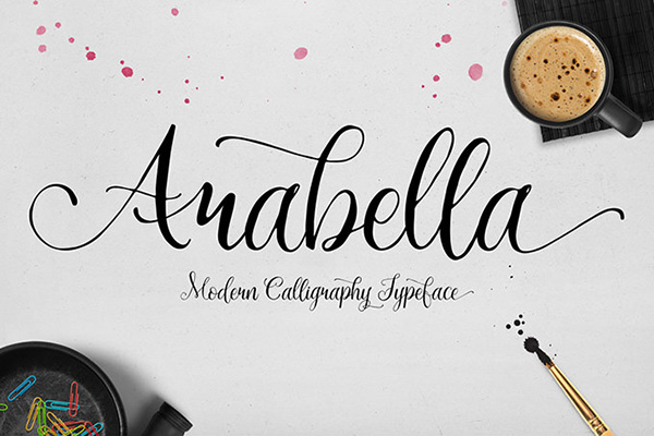 20 Script Font Terbaik 2016 - Arabella Free Font