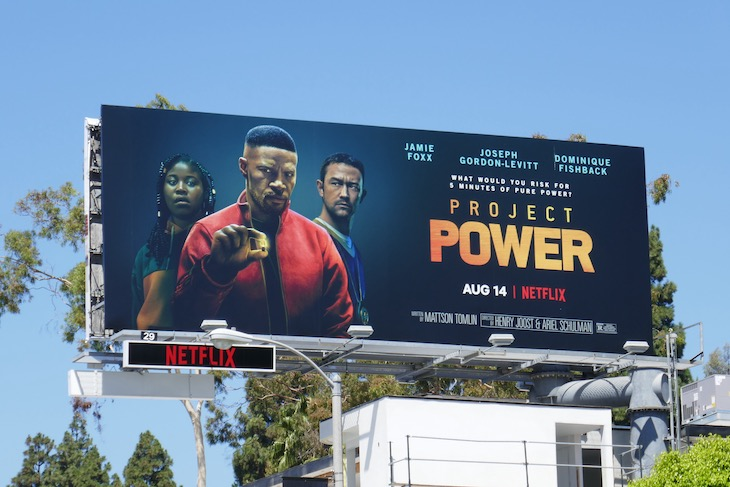 Project Power Netflix film billboard