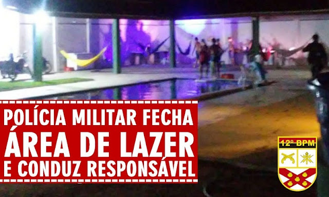 Em São Bento, polícia área de lazer e conduz responsável à delegacia por descumprimento de decreto