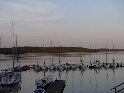Mazury, żeglowanie po Mazurach, porty mazurskie, port w Krzyżach, zabawy na plaży, raki w jeziorze, agresywny łabędź