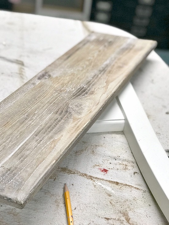 Rustic plank of wood for a shelf