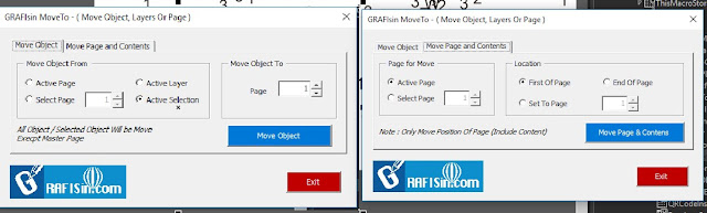 GRAFISin Free Macro MoveTo For Move Object or Page With Content for CorelDraw