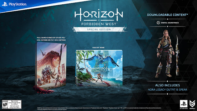 horizon forbidden west special edition steelbook physical disc copy digital soundtrack mini art bookopen-world action role-playing game guerrilla games playstation sony interactive entertainment february 18, 2022 ps4 ps5
