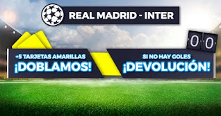 Paston promocion Real Madrid vs Inter 3-11-2020