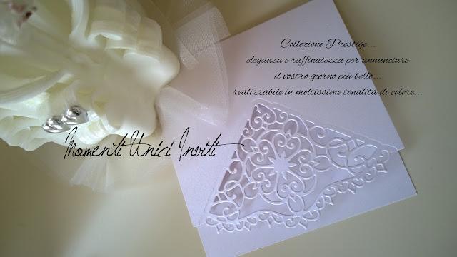 prestige Novità 2016... Collezione PrestigePartecipazioni intagliate Total White