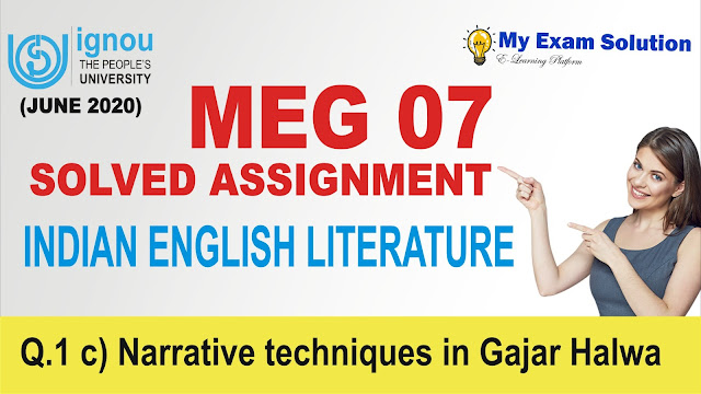 narrative techniques, meg 07, meg ignou,
