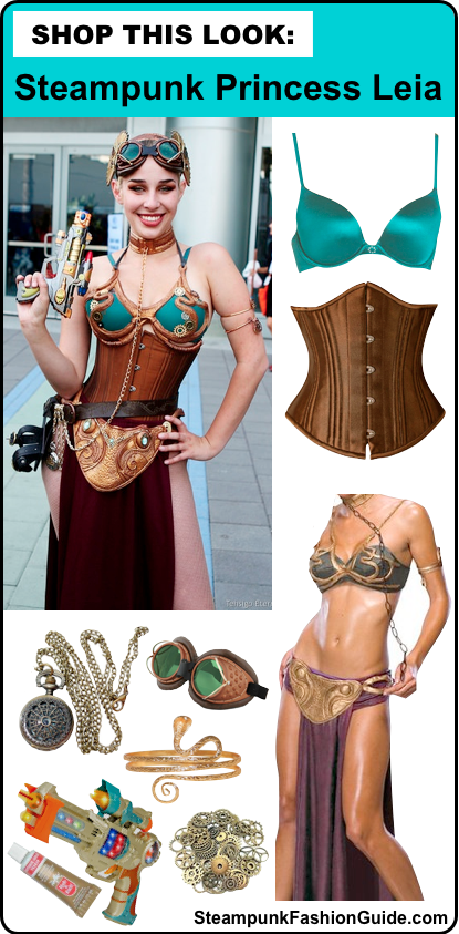 How to dress like a steampunk princess leia - steampunk star wars costumes for women