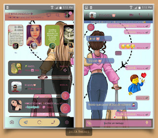Lady Girl Theme For YOWhatsApp & Fouad WhatsApp By Ale
