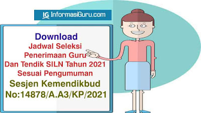 Download Pengumuman Sesjen Kemendikbud No:14878/A.A3/KP/2021 tentang Seleksi Penerimaan Guru Dan Tendik  SILN Tahun 2021 I PDF