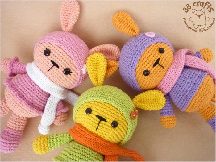 Amigurumi Bebek Gövdesi : Amigurumi renkli sevimli tavşan yapılışı amigurumi colorful bunny