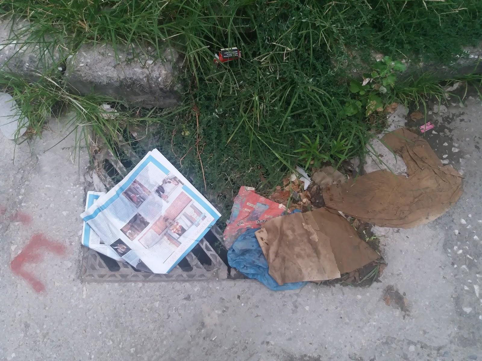 Πιθανός ο κίνδυνος πλημμύρας, από τα δεκάδες βουλωμένα φρεάτια στη Λάρισα