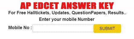 AP EdCET Answer Key 2021 Date