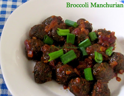 Easy Broccoli Manchurian