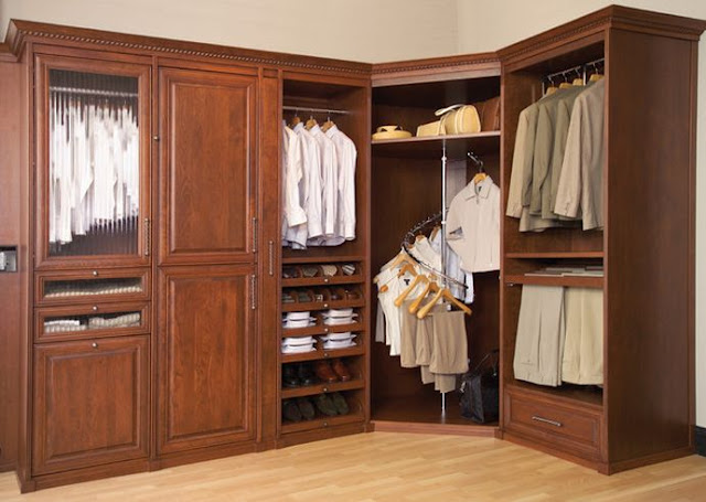 solid wood closet systems with door