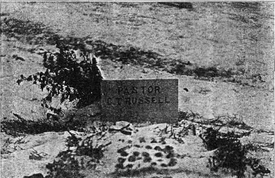 Russell's Original Gravestone