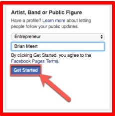 create facebook fan page for business