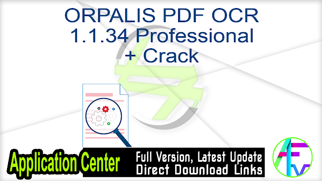 ORPALIS PDF OCR 1.1.34 Professional + Crack