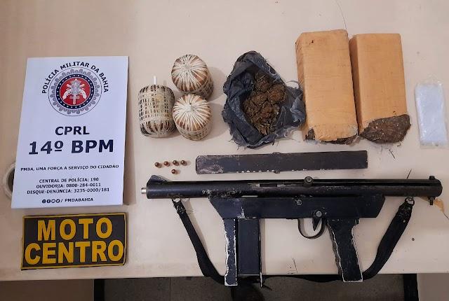 Polícia apreende explosivos e metralhadora em Santo Antônio de Jesus-BA