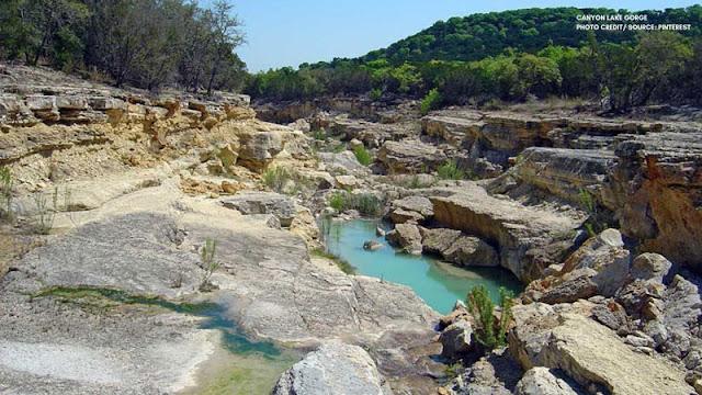 rocks and pools