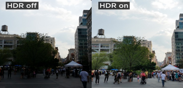 HDR settings in images