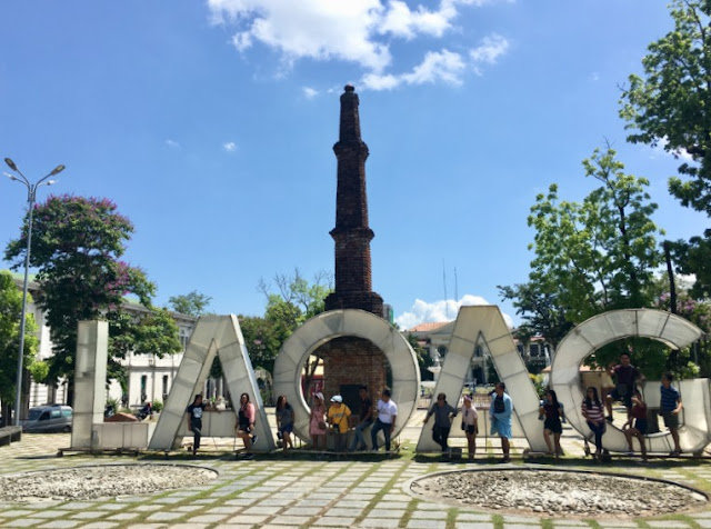 Laoag - this Laoag marker is situated at the city center in Laoag, Ilocos Norte