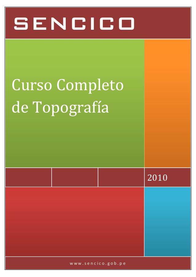 Curso completo de topografía – SENCICO