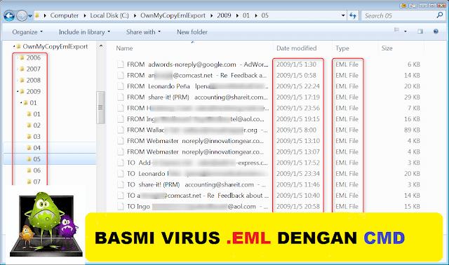 Membasmi Virus .EML Dengan CMD