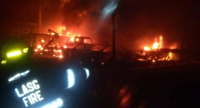 Ikeja tanker explosion: 3 bodies recovered, 13 injured and 25 vehicles burnt