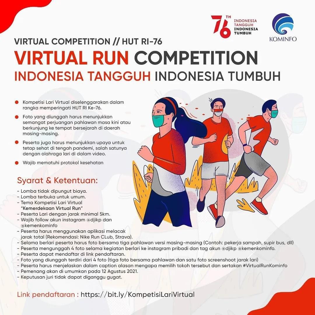 Virtual Run 👟 Virtual Run Kominfo • 2021