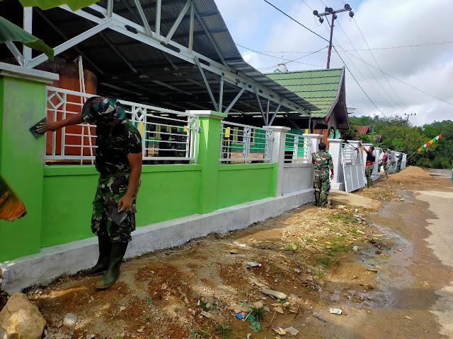 Selangkah lagi selesai, Masjid Nurul Hudha TMMD ke-110 Kodim 1008 Tanjung masuk tahap pengecatan