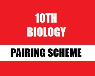 10th (Matriculation) Biology Pairing Scheme 2019
