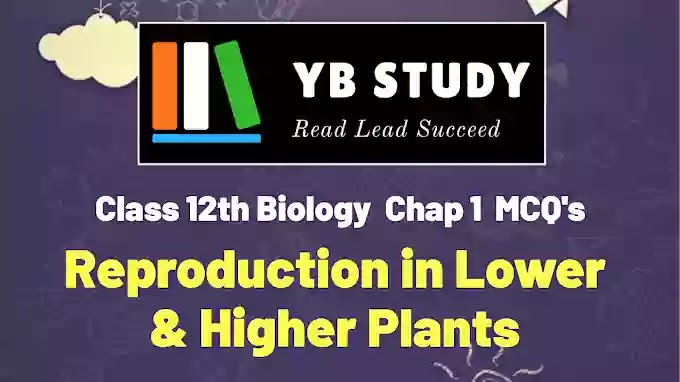 Biology MCQs for Class 12 with Answers Chapter 1 (Reproduction in Lower and Higher Plants)