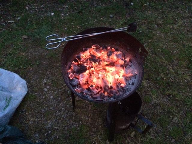 Foto de nuestra Barbacoa en camping Itsas Mendi | caravaneros.com