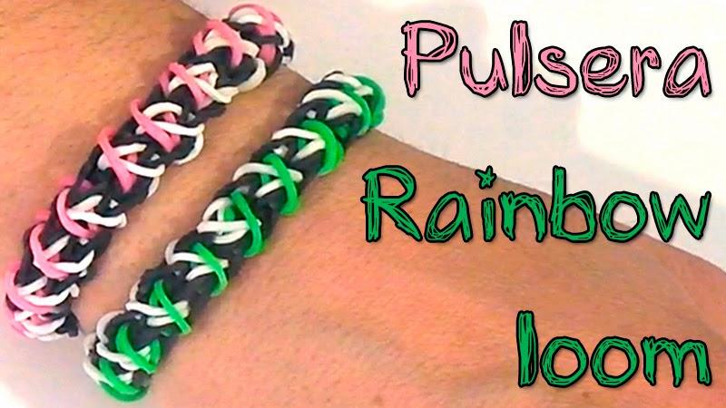Pulsera Rainbow Loom - Rainbow loom bracelet - DIY