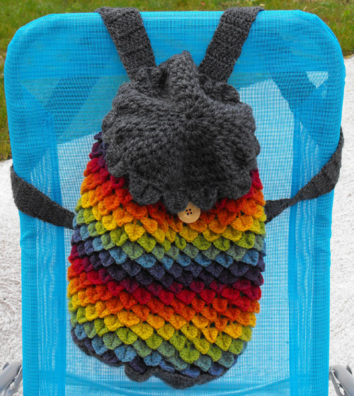 Rainbow Dragon Backpack - Free Pattern
